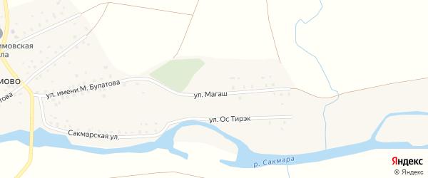 Улица Магаш на карте села Абдулкаримово с номерами домов