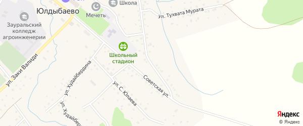 Электрическая улица на карте села Юлдыбаево с номерами домов
