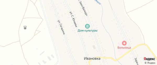 Улица С.Юлаева на карте села Ивановки с номерами домов
