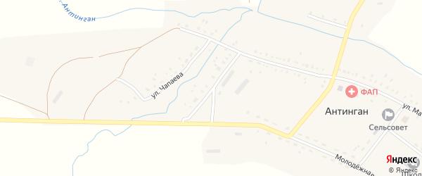 Улица Заки Валиди на карте села Антингана с номерами домов