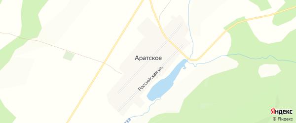 Карта Аратского села в Челябинской области с улицами и номерами домов
