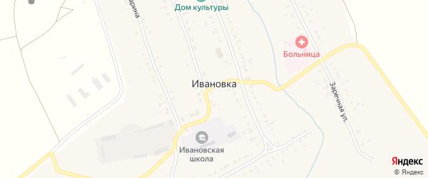 Улица З.Валиди на карте села Ивановки с номерами домов