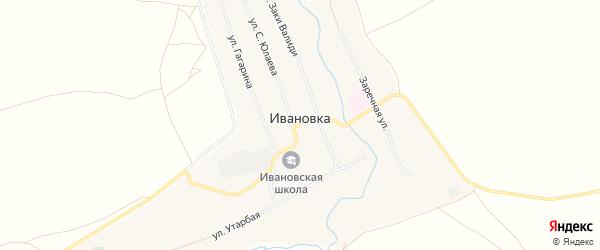 Карта села Ивановки в Башкортостане с улицами и номерами домов