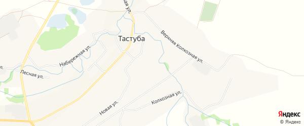 Карта села Тастубы в Башкортостане с улицами и номерами домов