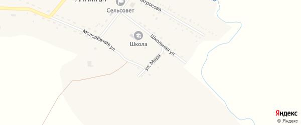 Улица Мира на карте села Антингана с номерами домов