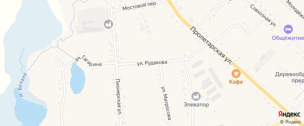 Улица Рудакова на карте села Дувана с номерами домов