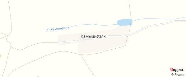 Улица Шаймуратова на карте деревни Камыша-Узяка с номерами домов