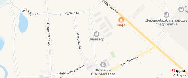 Улица С.А.Михляева на карте села Дувана с номерами домов
