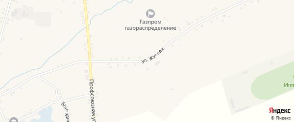 Улица Жукова на карте села Дувана с номерами домов