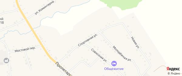 Спортивная улица на карте села Дувана с номерами домов
