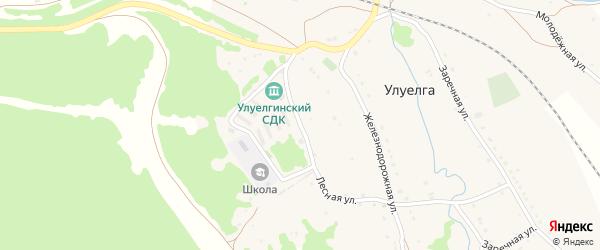Лесная улица на карте села Улуелги с номерами домов
