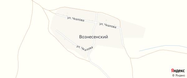 Улица Чкалово на карте Вознесенского хутора с номерами домов