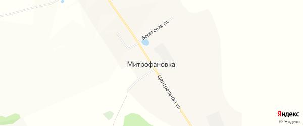 Карта села Митрофановки в Башкортостане с улицами и номерами домов