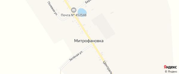 Береговая улица на карте села Митрофановки с номерами домов