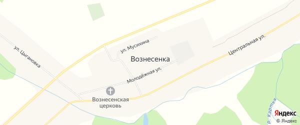 Карта села Вознесенки в Башкортостане с улицами и номерами домов