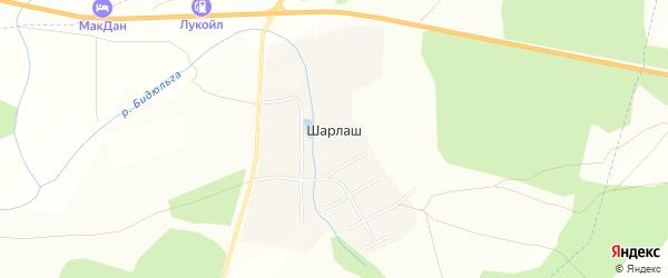 Карта поселка Шарлаша в Челябинской области с улицами и номерами домов