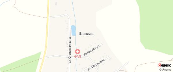 Улица Калинина на карте поселка Шарлаша с номерами домов
