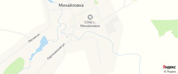 Карта села Михайловки в Башкортостане с улицами и номерами домов