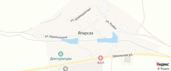 Улица Рыжова на карте деревни Япарсаза с номерами домов