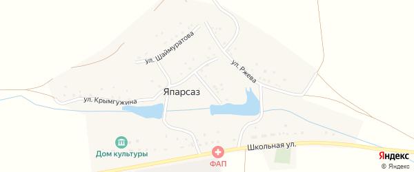 Улица Ш.Бабича на карте деревни Япарсаза с номерами домов