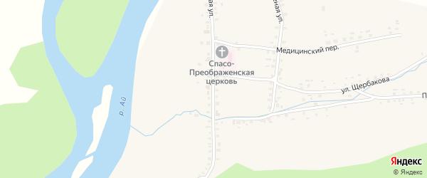 Партизанская улица на карте села Метели с номерами домов