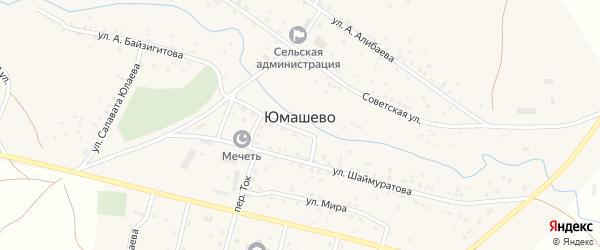 Юбилейная улица на карте села Юмашево с номерами домов