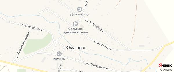 Советская улица на карте села Юмашево с номерами домов