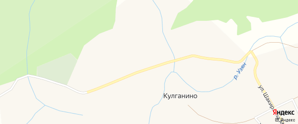 Улица Узян на карте деревни Кулганино с номерами домов
