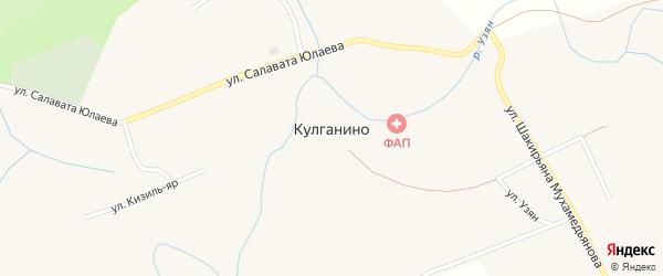 Улица Яман-ельга на карте деревни Кулганино с номерами домов