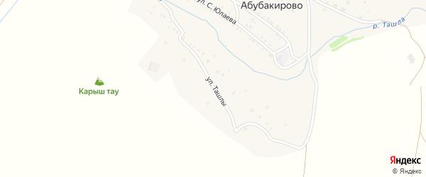 Улица Ташлы на карте села Абубакирово с номерами домов
