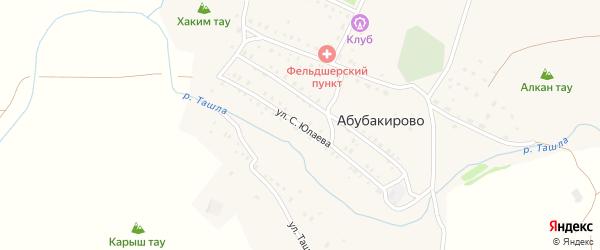 Улица С.Юлаева на карте села Абубакирово с номерами домов