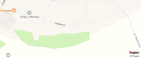 Новая улица на карте села Метели с номерами домов