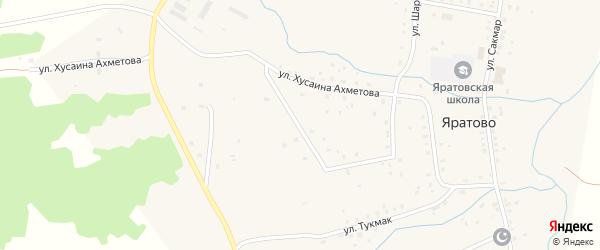 Улица С.Юлаева на карте села Яратово с номерами домов