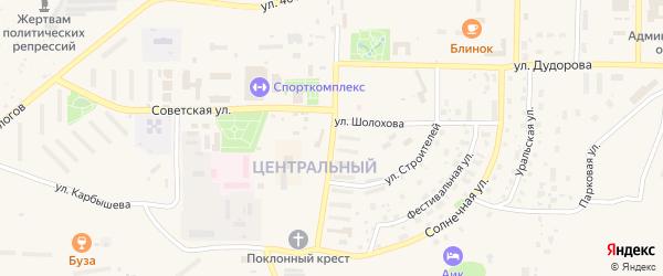 Улица Мира на карте Межгорья с номерами домов