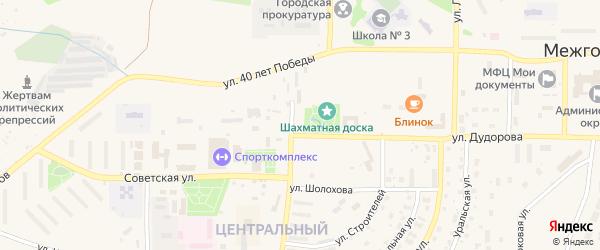 Улица Новый микрорайон на карте Межгорья с номерами домов