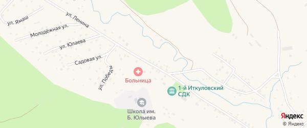 Улица Ленина на карте села 1-е Иткулово с номерами домов