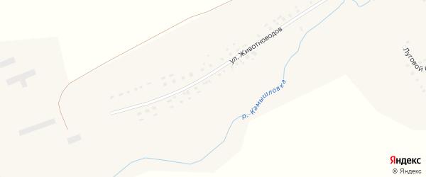 Улица Животноводов на карте села Ярославки с номерами домов