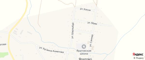 Улица Шарлыбай на карте села Яратово с номерами домов