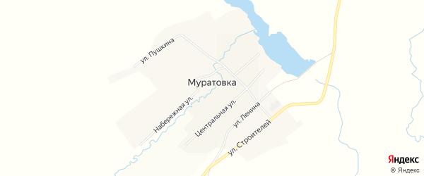Карта села Муратовки в Челябинской области с улицами и номерами домов