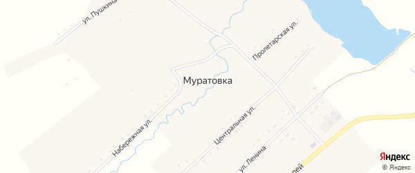 Пролетарская улица на карте села Муратовки с номерами домов