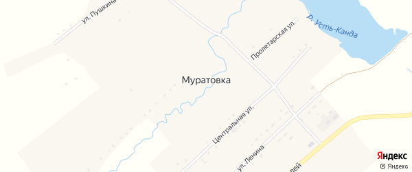 Набережная улица на карте села Муратовки с номерами домов