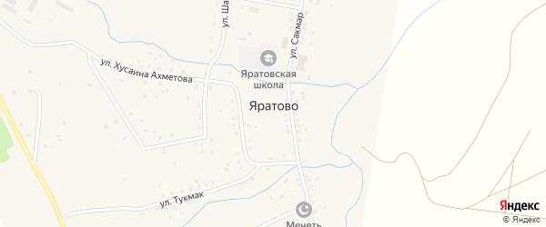 Улица Кинзя на карте села Яратово с номерами домов