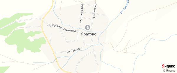 Карта села Яратово в Башкортостане с улицами и номерами домов