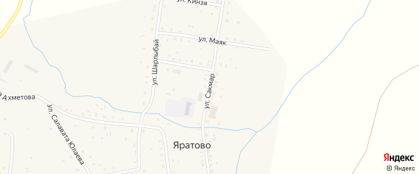 Улица Сакмар на карте села Яратово с номерами домов