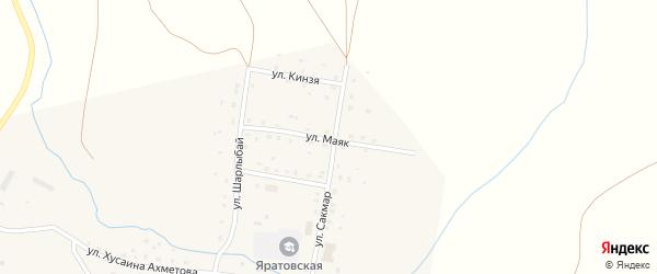 Улица Маяк на карте села Яратово с номерами домов