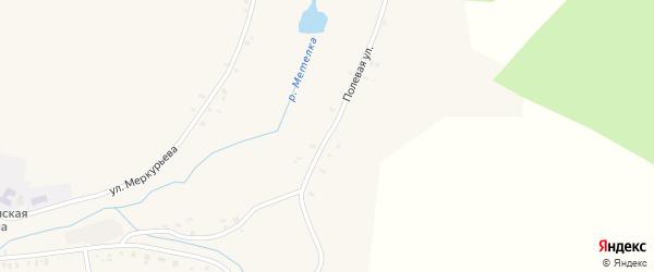 Полевая улица на карте села Метели с номерами домов