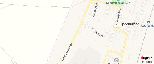 Молодежная улица на карте поселка Кропачево с номерами домов