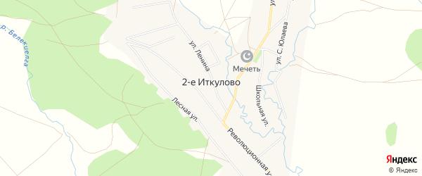 Карта села 2-е Иткулово в Башкортостане с улицами и номерами домов
