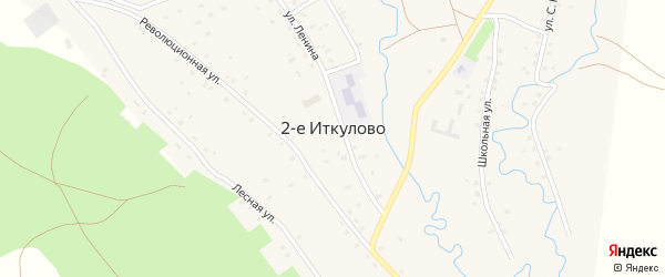 Лесная улица на карте села 2-е Иткулово с номерами домов