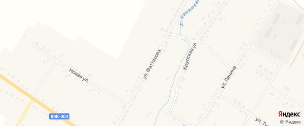 Улица Фаттахова на карте села Улькунды с номерами домов